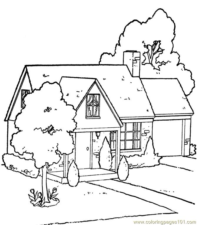 house coloring for kids free houses printable coloringpages101 house23 cuhxo pdf color coloring pages House Coloring Page