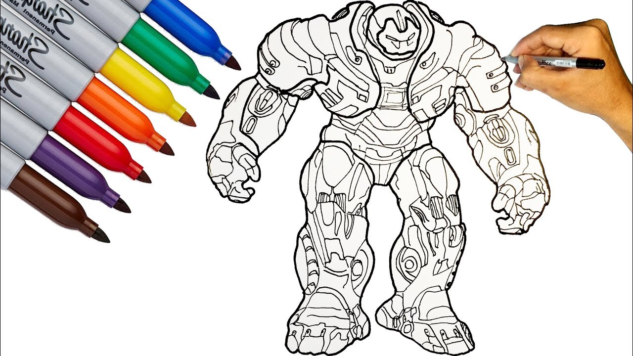 hulkbuster mark coloring to draw the avengers endgame kid friendly art kit washable coloring pages Hulkbuster Coloring Page
