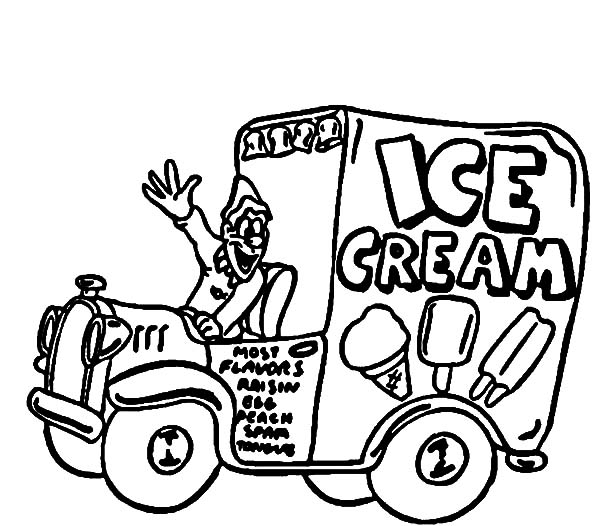 ice cream truck coloring bulk color capital if in cursive writing party favors that is coloring pages Ice Cream Truck Coloring Page