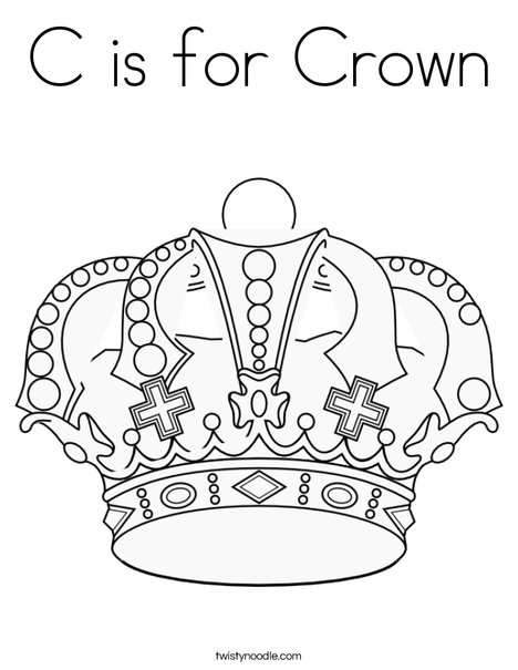 is for crown coloring twisty noodle princess 468x609 q85 craft markers supplies homemade coloring pages Princess Crown Coloring Page