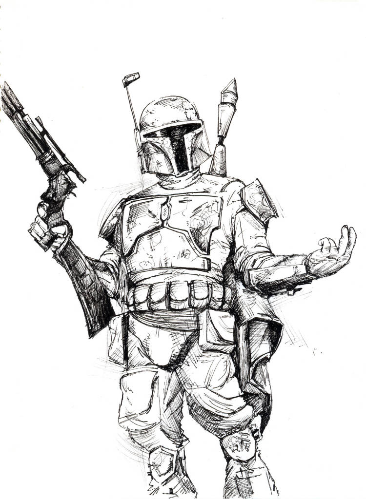 jedistarkiller2s art updated sept boba fett coloring 750x1024 wallpaper teahub io mask coloring pages Boba Fett Coloring Page