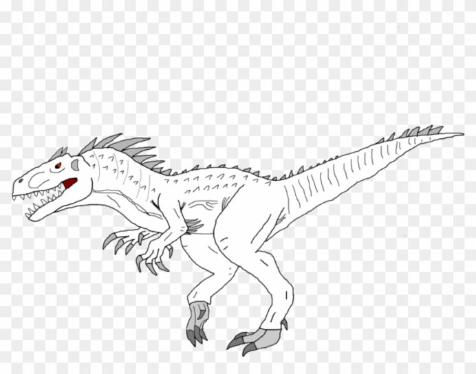 jurassic world indominus rex coloring by christopher spinosaurus colorier hd 1024x768 coloring pages Spinosaurus Coloring Page