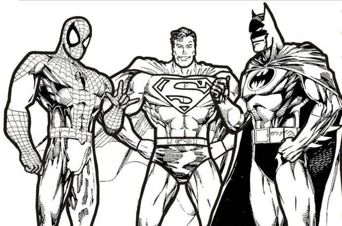 justice league coloring pictures free printable raskrasil aalphabet numbers pencilooncart coloring pages Justice League Coloring Page