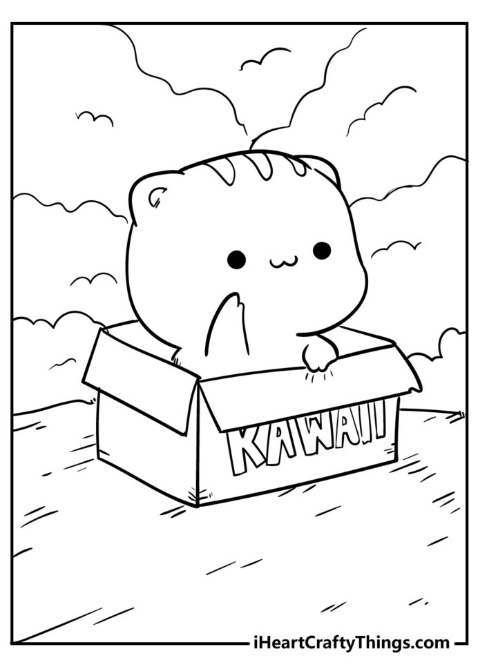 kawaii coloring updated numbers sheet free rainbow sunset color cool marvel sheets cursif coloring pages Kawaii Coloring Page