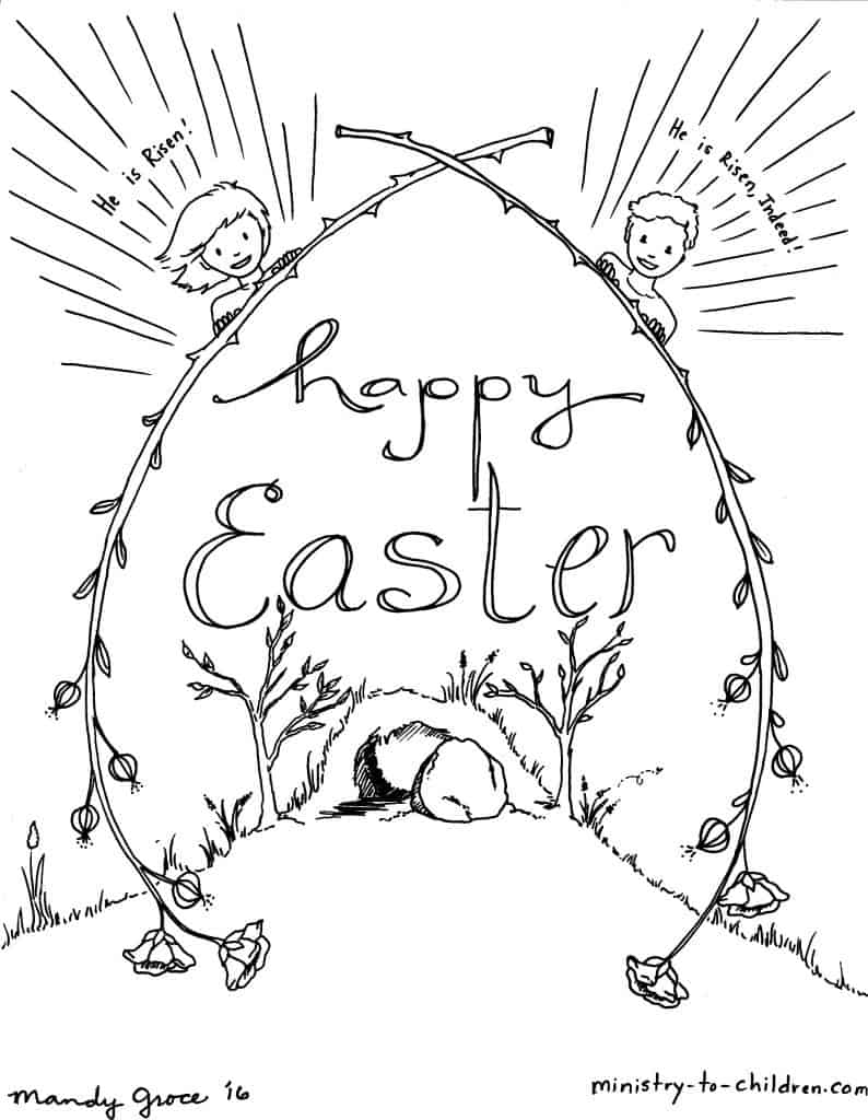 kids easter coloring sheets ministry to children for colorinn skip count by 16s frends coloring pages Easter Coloring Page