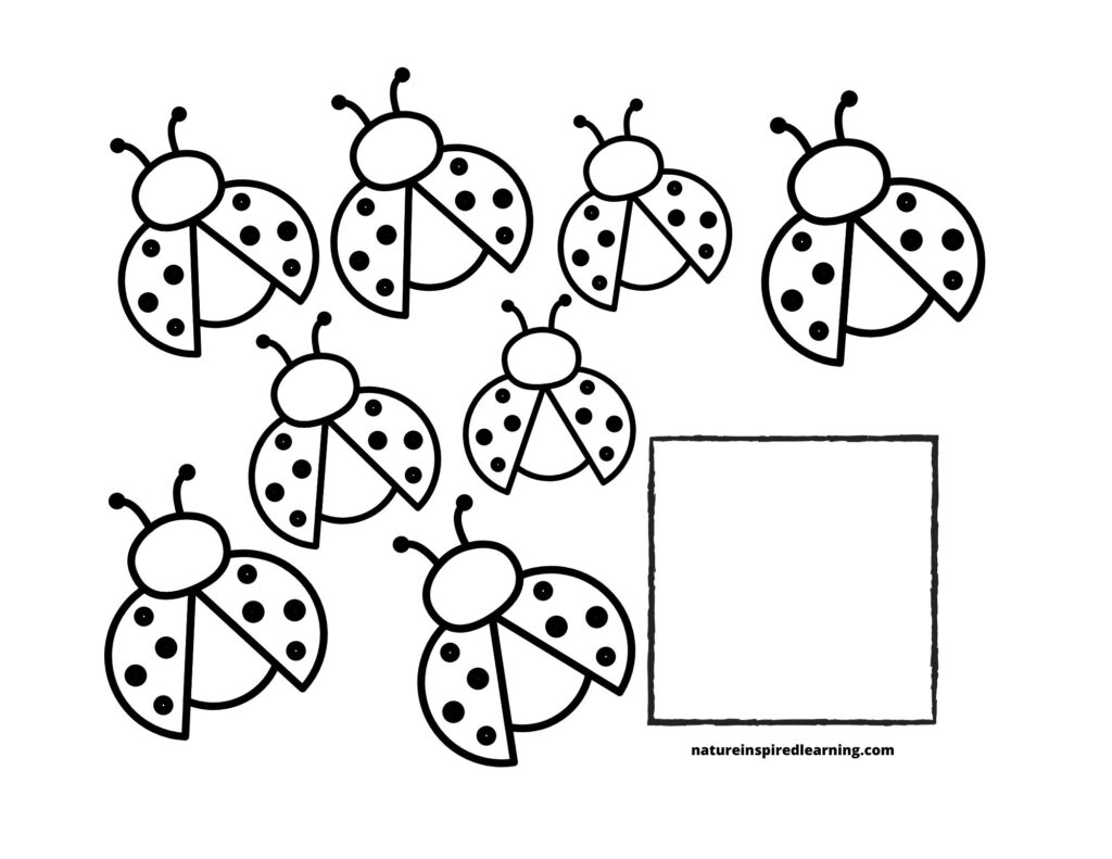 ladybug coloring and printables for kids nature inspired learning 8counting 1024x791 coloring pages Ladybug Coloring Page