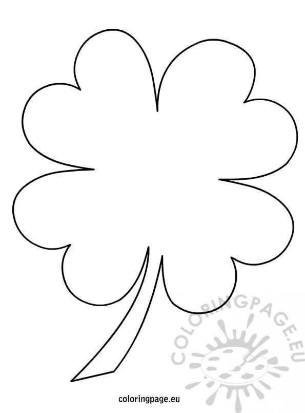 leaf clover coloring best scrubbie bulk pencils paint removal putty kid tank diy free coloring pages Clover Coloring Page
