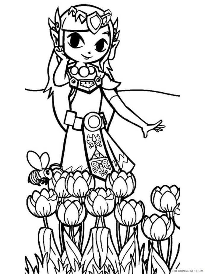 legend of zelda coloring games printable coloring4free flashlight shapes elsa and anna to coloring pages Zelda Coloring Page