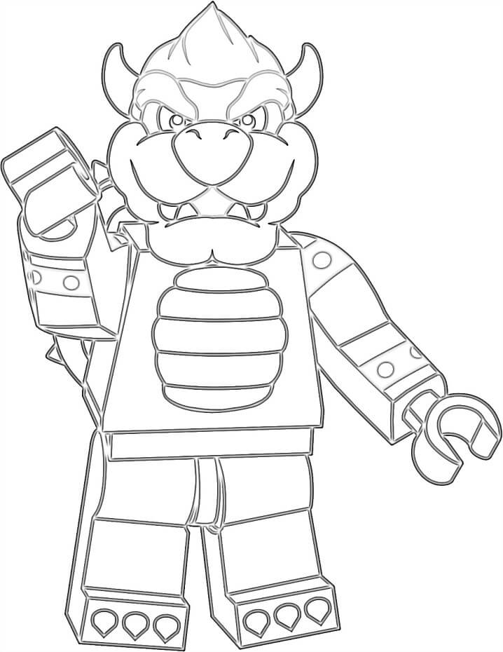 lego bowser coloring free printable for kids finish shark images model in snow globe dog coloring pages Bowser Coloring Page