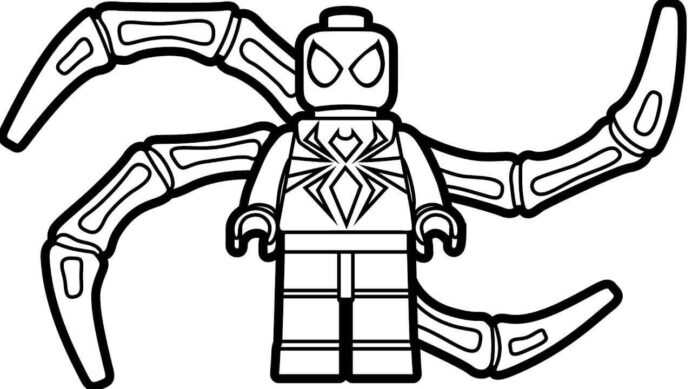 lego spiderman coloring free printable for kids thankful bag craft pictures of snowman coloring pages Spiderman Coloring Page