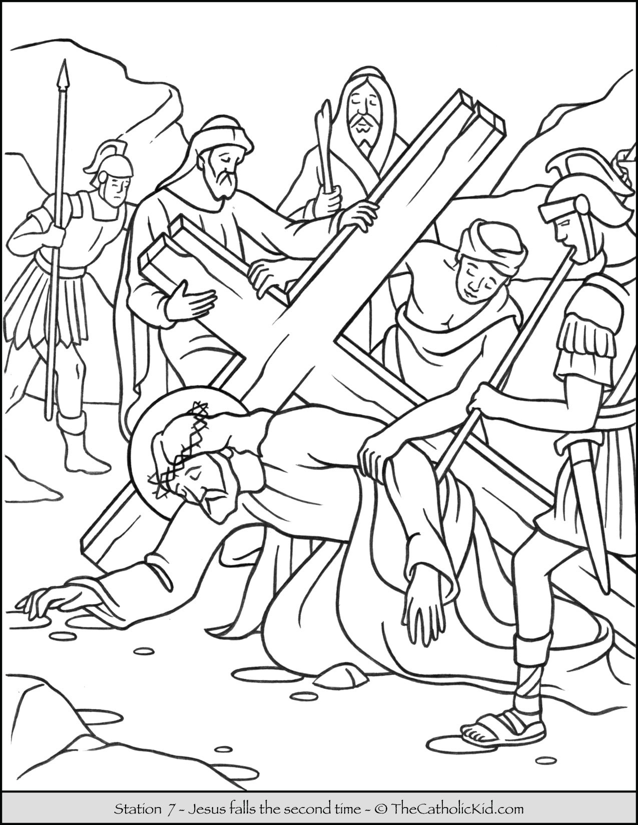 lent archives the catholic kid coloring and games for children stations of cnt mls coloring pages Catholic Coloring Page