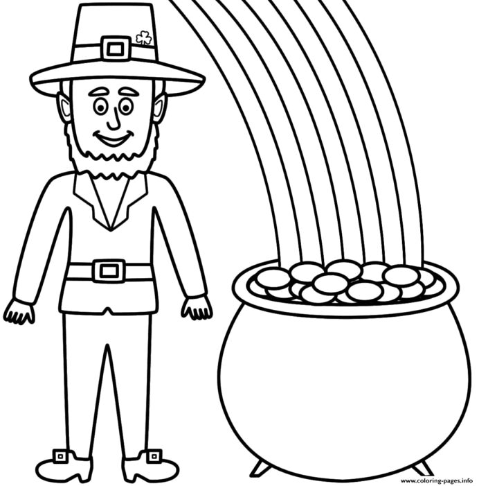 leprechaun and of gold coloring quick drying paint crayola logo template color maroon coloring pages Pot Of Gold Coloring Page
