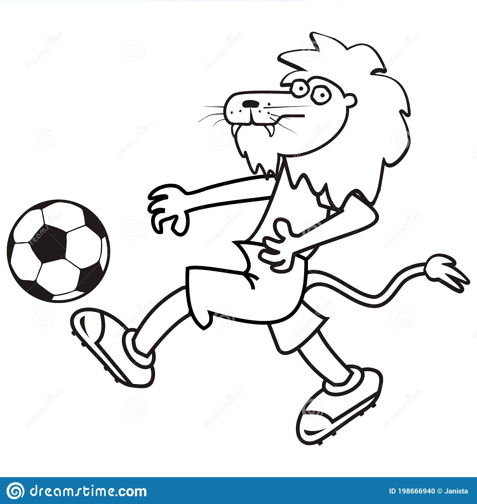 lion and soccer ball coloring stock vector illustration of competitive activity book coloring pages Soccer Ball Coloring Page
