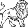 lion coloring clipart and other free printable design themes oaxacan animal sculptures coloring pages Coloring Page Lion