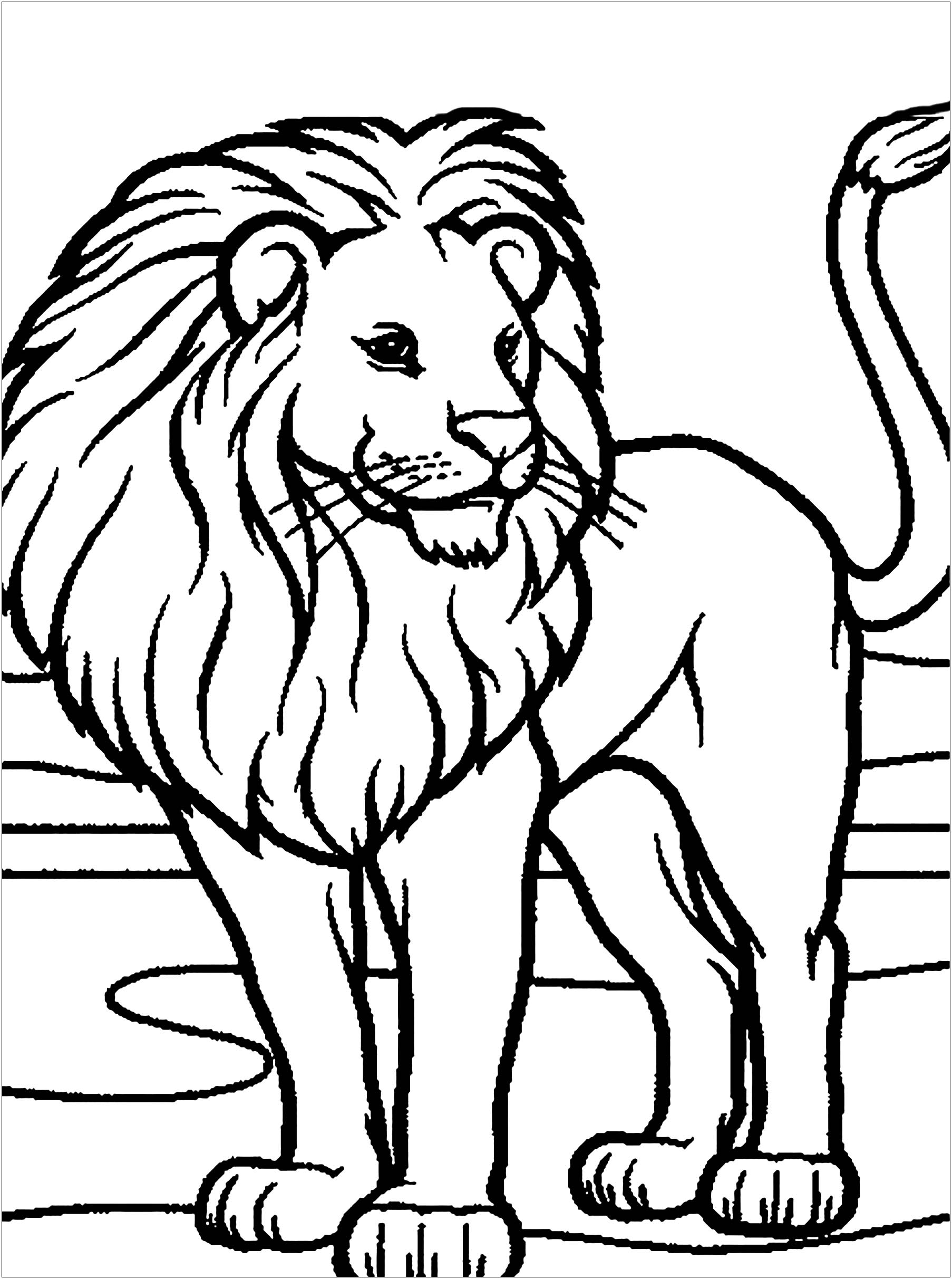 lion free to color for children kids coloring skull sheet thanksgiving drawings easy coloring pages Lion Coloring Page