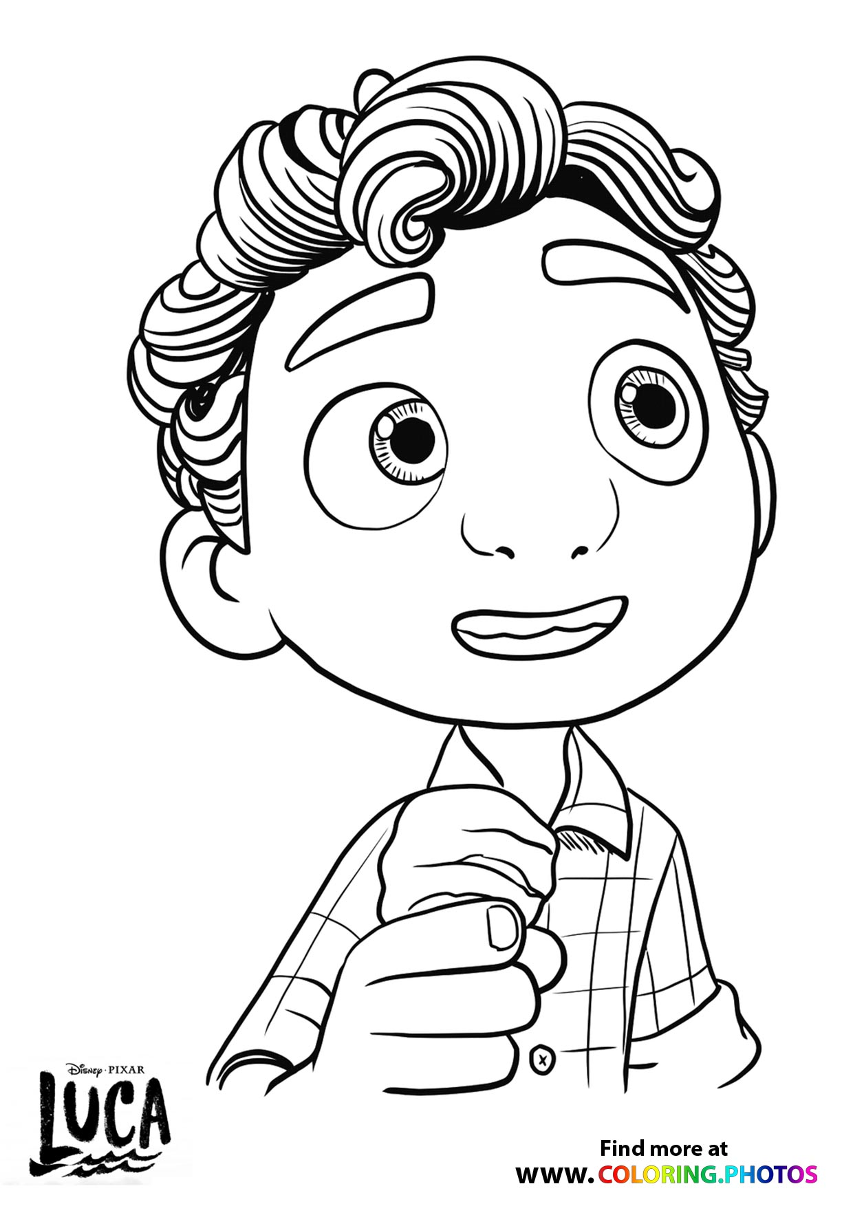 luca eating ice cream coloring for kids disney kite seasonal cycle circle crafts about coloring pages Disney Coloring Page Com