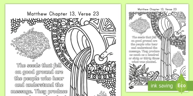 matthew mindfulness coloring teacher made parable of the sower us2 re english ver color coloring pages Parable Of The Sower Coloring Page