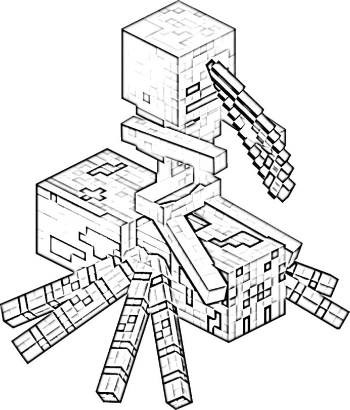 minecraft coloring print them for free pictures from the game raskraski simple coloring pages Minecraft Coloring Page