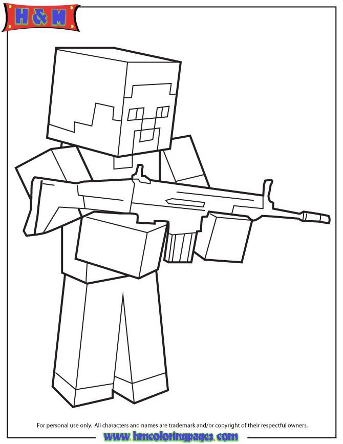 minecraft steve coloring youngandtae ausmalbilder malvorlagen crayon hq nyc star wars coloring pages Minecraft Coloring Page