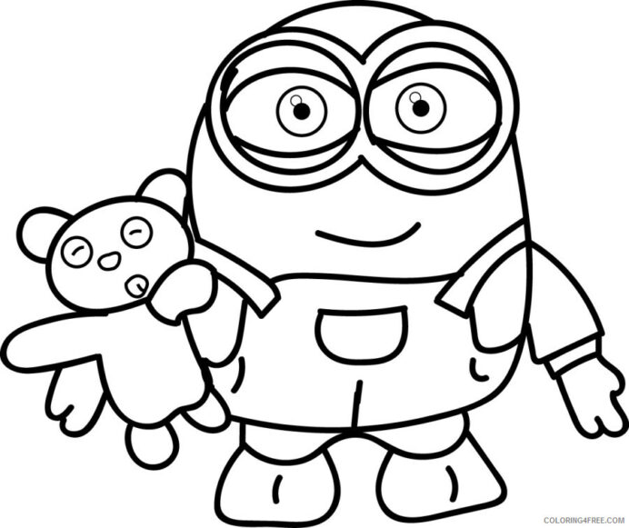 minions coloring tv film free printable coloring4free minion shaded quarters coins color coloring pages Printable Minion Coloring Page