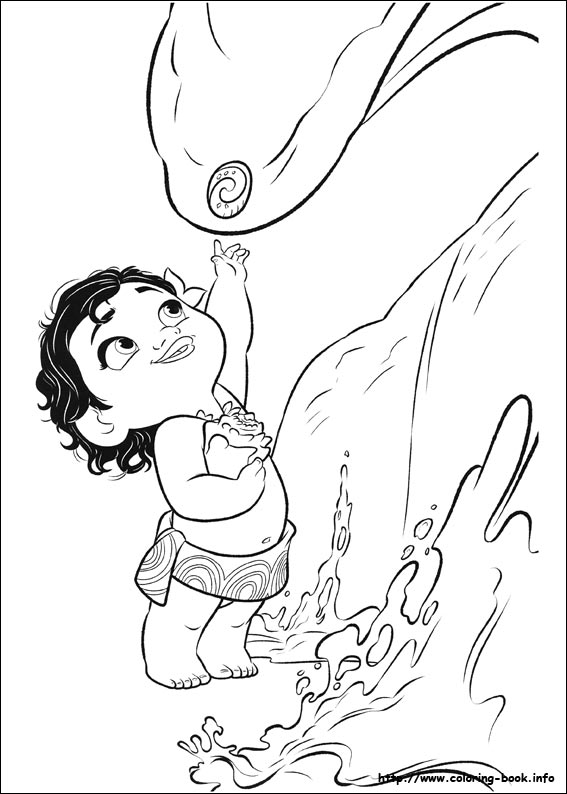 moana coloring baby thanks giving printables washable mat my first crayola touch lights coloring pages Moana Coloring Page
