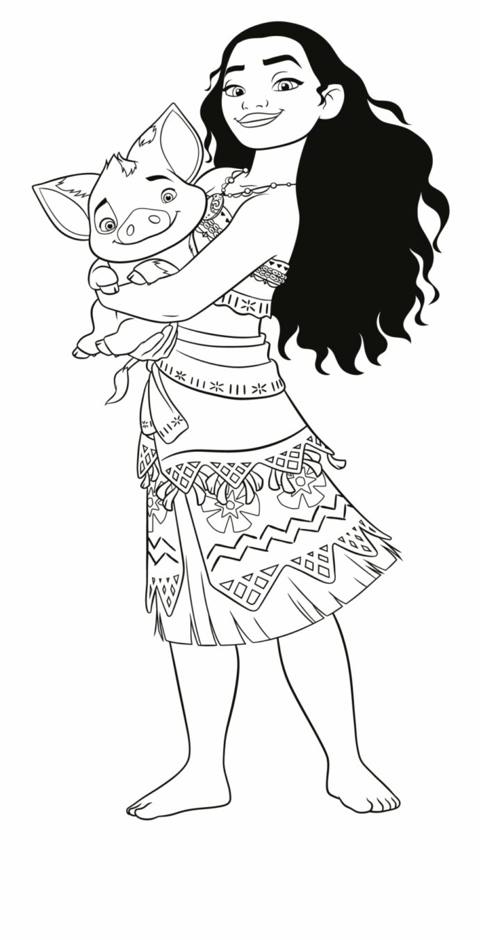 moana coloring vaiana oceania colorare transparent vippng washable mat thanks giving coloring pages Moana Coloring Page