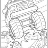 monster truck crushing car coloring crayola christmas template thanksgiving pics to color coloring pages Monster Truck Coloring Page