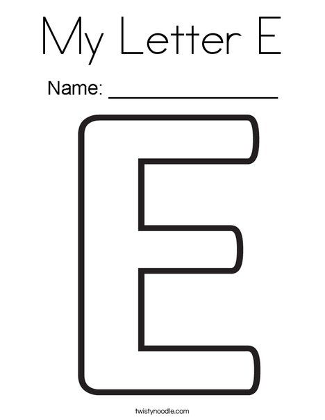 my letter coloring alphabet canals lesson plans fairy tale sheets easter friday printable coloring pages Letter E Coloring Page