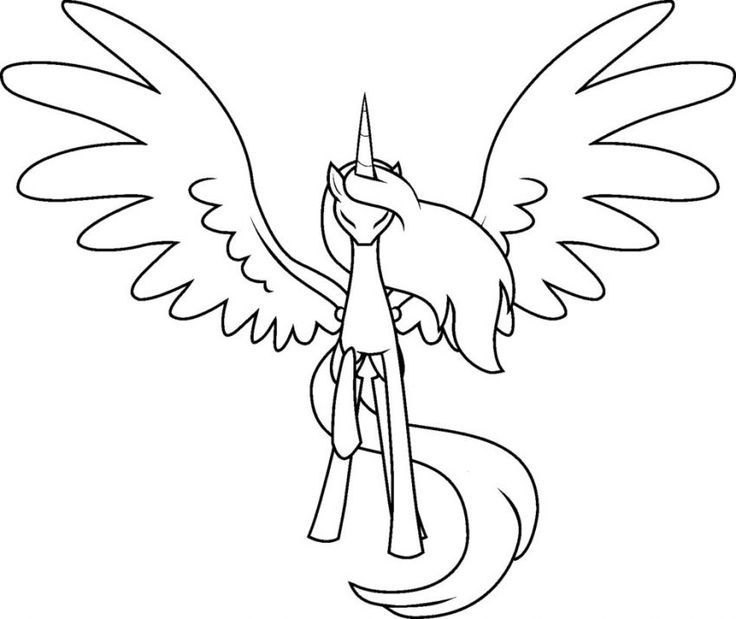 my little pony coloring alicorn drawing crayola factory nj fall leaves directions for coloring pages Alicorn Coloring Page