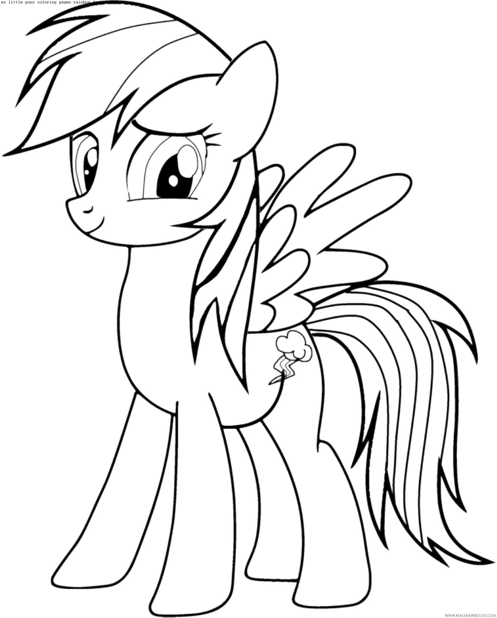 my little pony coloring rainbow dash wallpaper dress bunch of lunch forzen elsa happy and coloring pages Pony Coloring Page