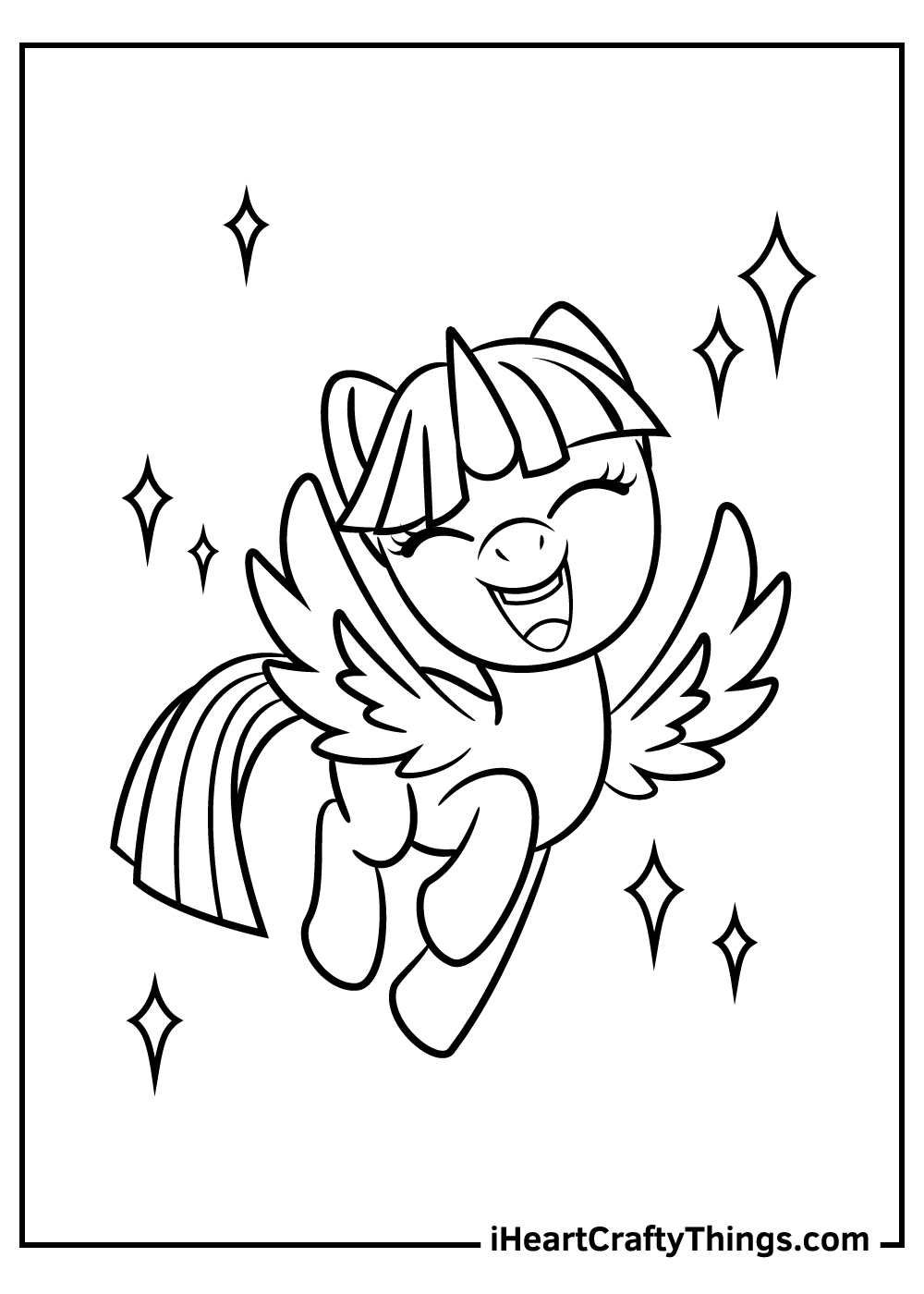my little pony coloring updated printing running sheet trucks free printables incredibles coloring pages My Little Pony Printing Coloring Page