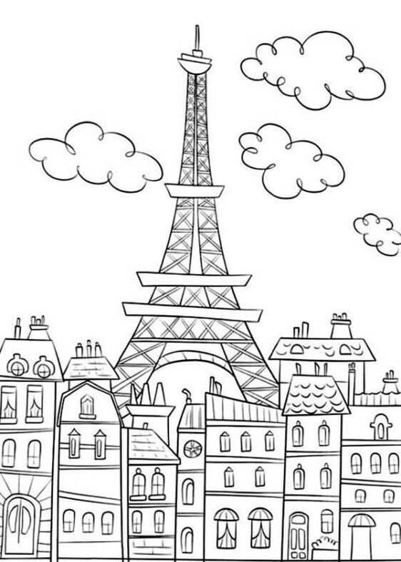nice eiffel tower coloring free printable for kids eifel thanksgiving cloring sheets coloring pages Eifel Tower Coloring Page