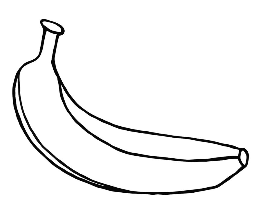 one large banana coloring fruit for kids calligraphy color disney halloween pictures coloring pages Banana Coloring Page