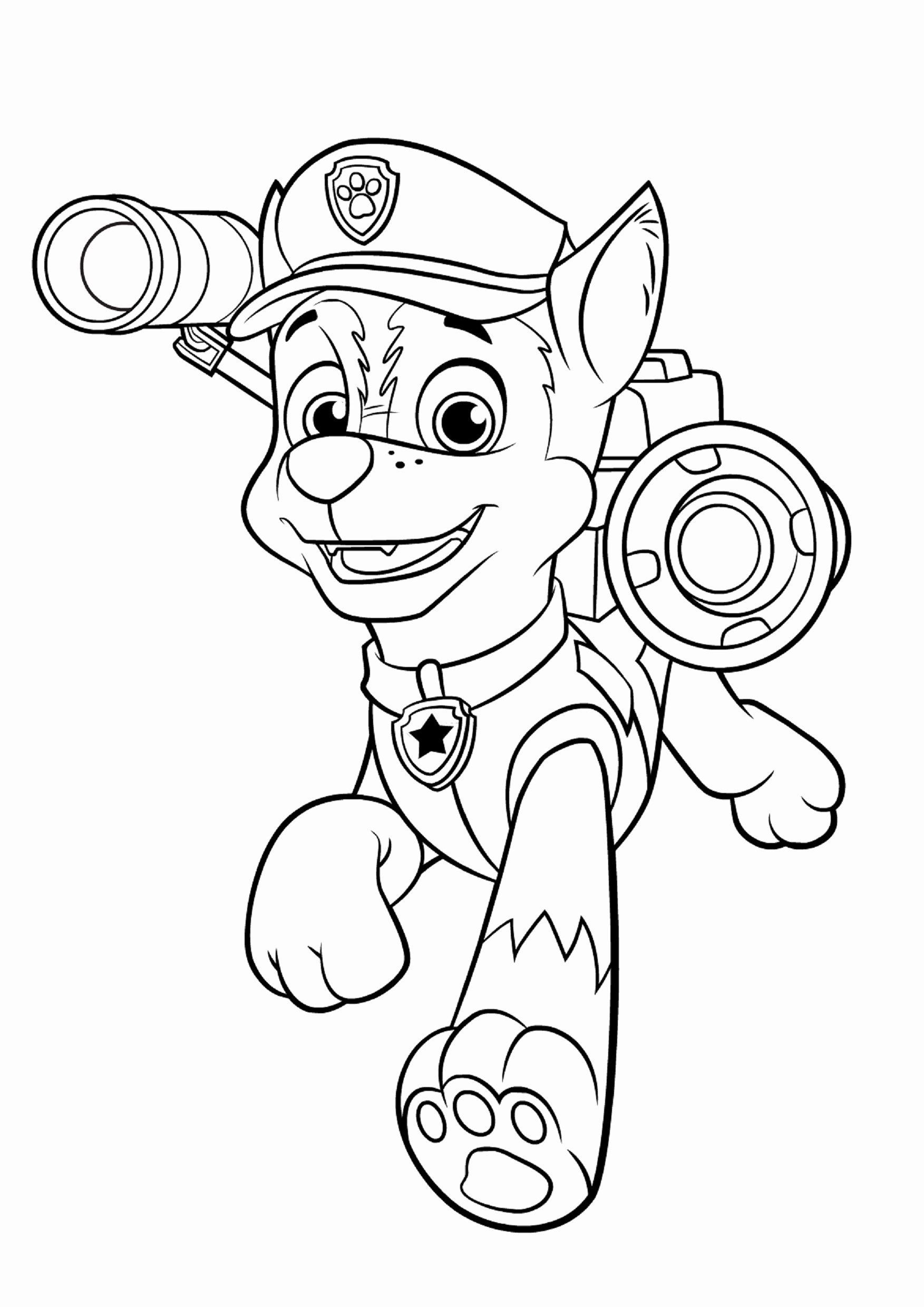 paw patrol coloring lovely to and print for fre train sheet shark writing check animation coloring pages Chase Coloring Page