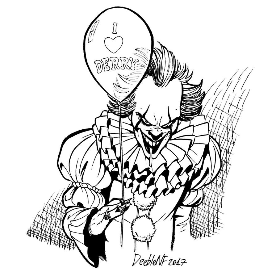 pennywise coloring at getcolorings free inktober fan art by deeblenf dbqk11y egyptian coloring pages Pennywise Coloring Page
