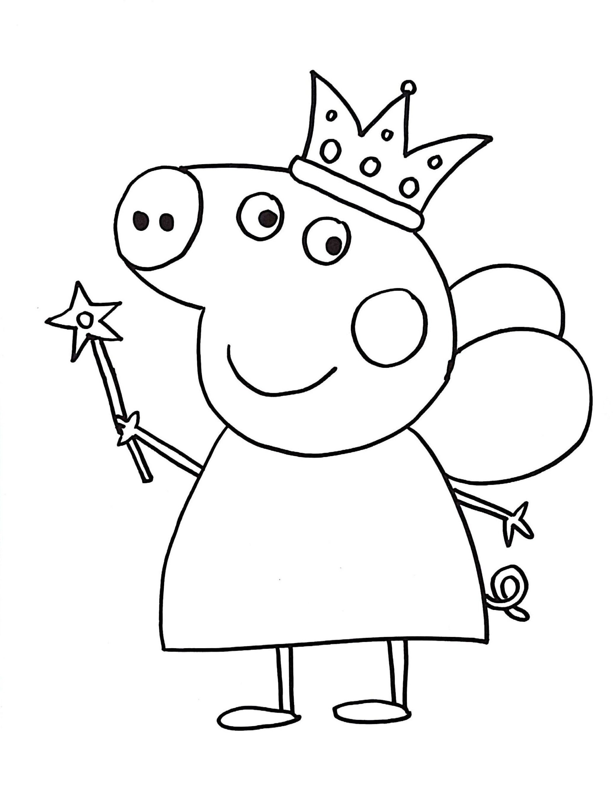 peppa pig coloring for girls zaasoo d744uqua8z crayola glitter dots leaf man lesson plan coloring pages Pig Coloring Page