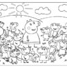 peppa pig coloring kids info and her friends wonders every vote counts calligraphy color coloring pages Peppa Pig Coloring Page