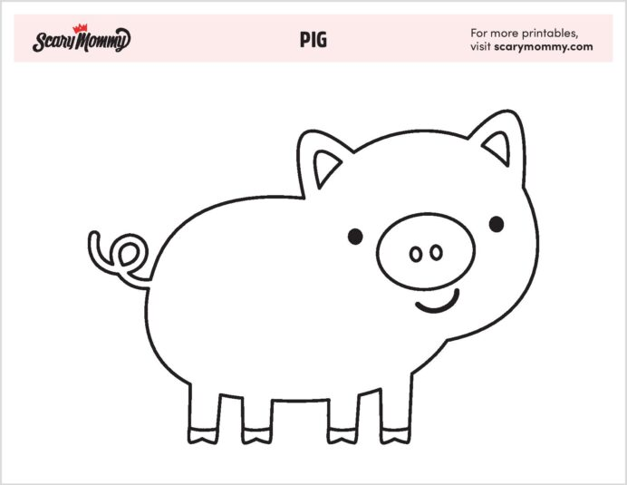 pig coloring that ll have your kiddo squealing with joy kids art kits borders coloring pages Pig Coloring Page