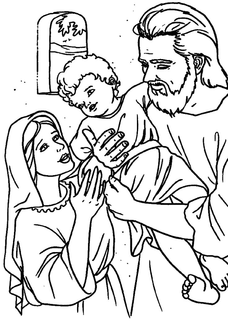 pin on art holy family coloring bible for kids christmas design my little ponies color coloring pages Holy Family Coloring Page