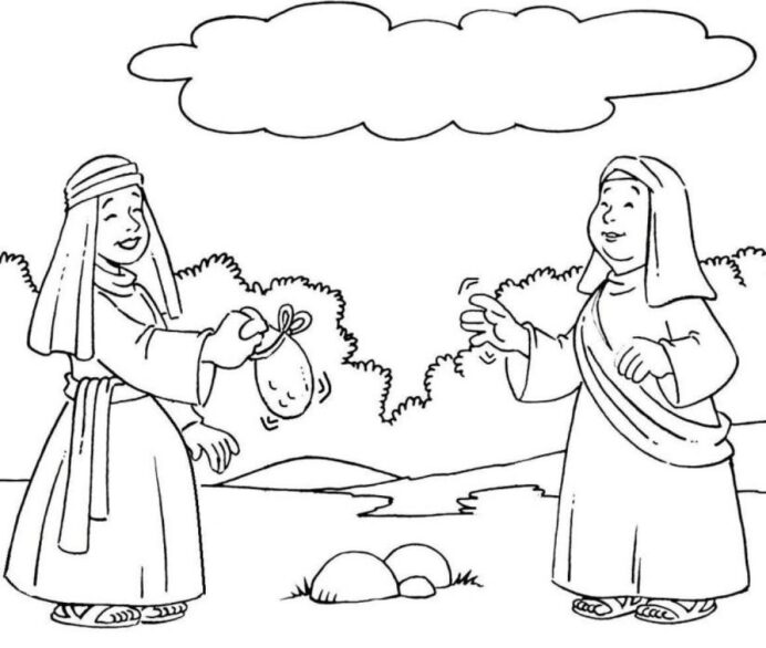 pin on esl kids ruth and naomi coloring 2nd grade art lesson plans frozen drawing coloring pages Ruth And Naomi Coloring Page