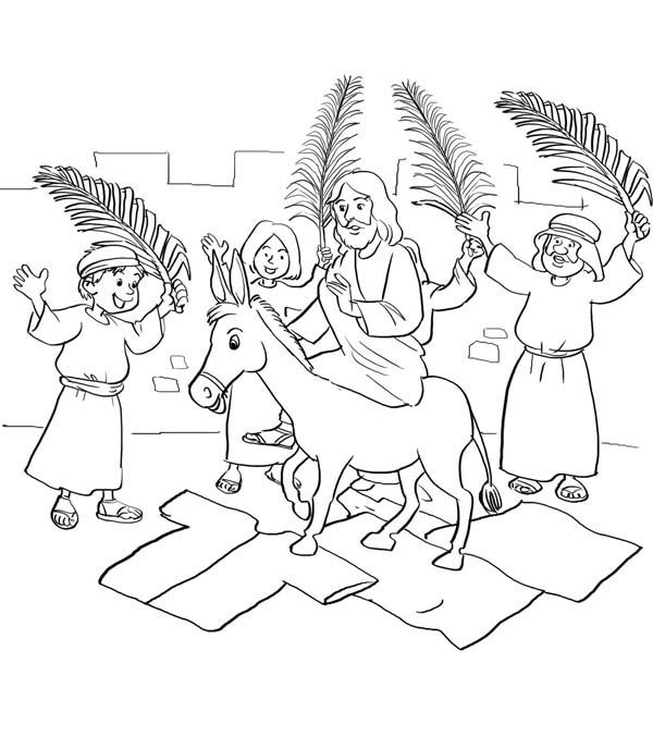 pin on holiday coloring palm sunday free colored christmas wreath steam kid games easy coloring pages Palm Sunday Coloring Page