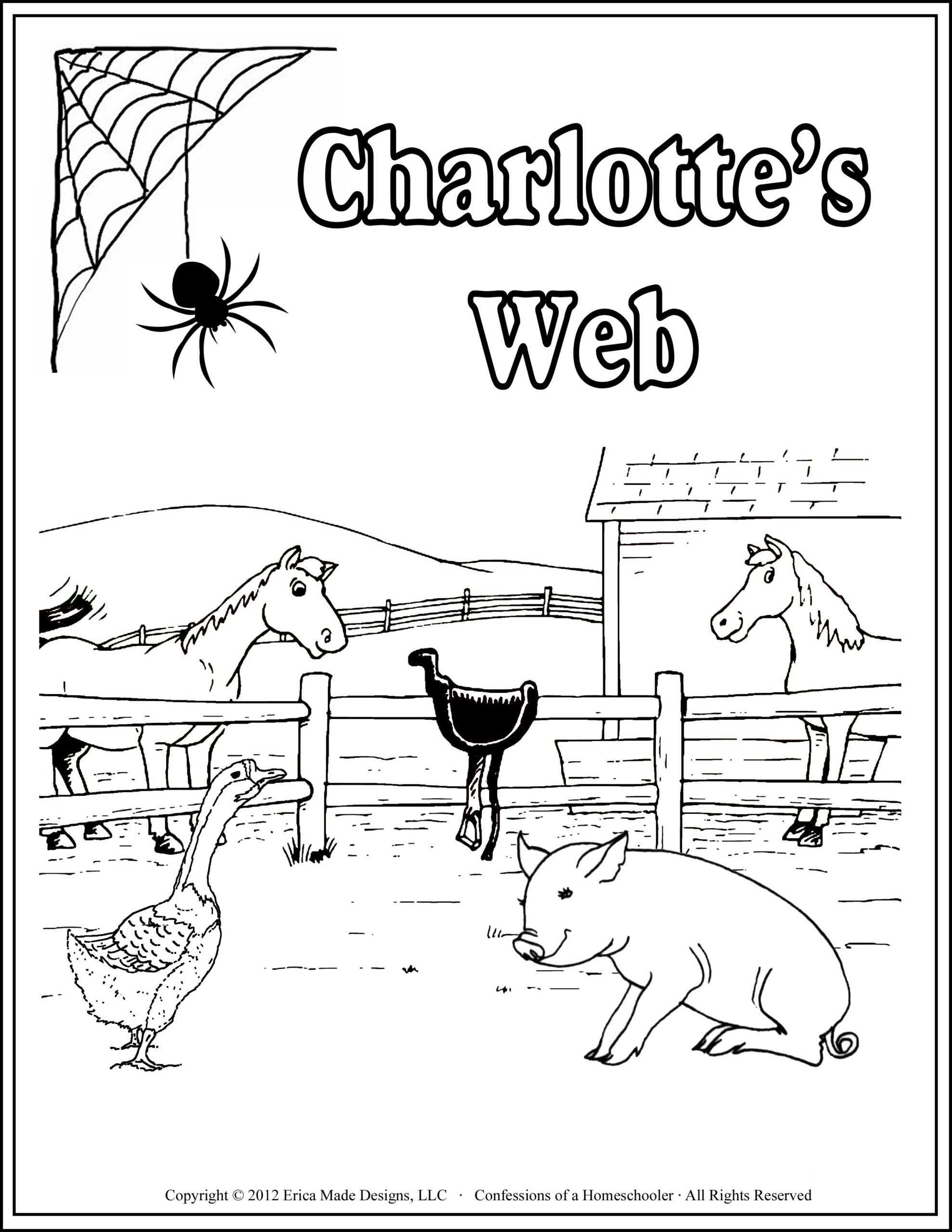 pin on home learning unit study ideas and resources web coloring scene creator baby coloring pages Charlotte Web Coloring Page