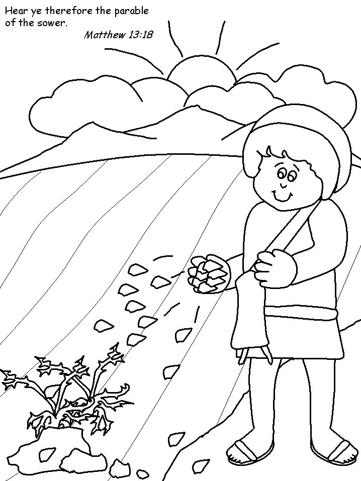pin on preschool summer parable of the sower coloring bible lessons sunday school coloring pages Parable Of The Sower Coloring Page
