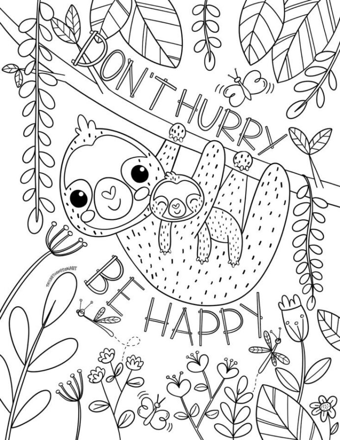 pin on sloth coloring printable easter egg craft kits dice arts and crafts for teen coloring pages Coloring Page Printable