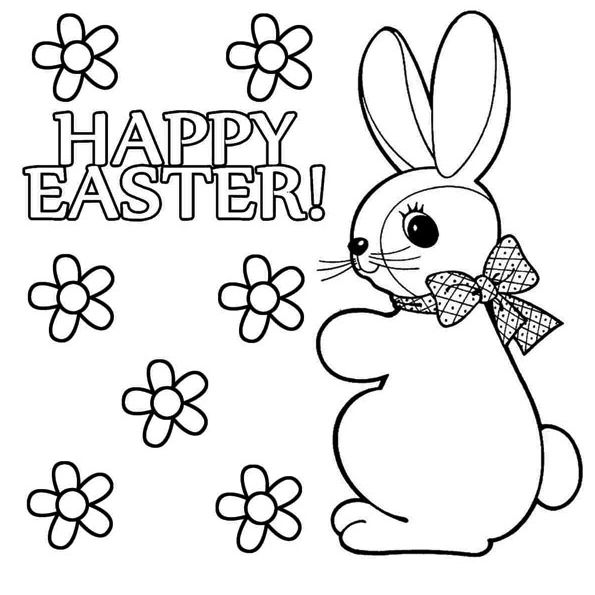 places for free easter bunny coloring the happy candy cane pictures to color kid no mess coloring pages Easter Bunny Coloring Page