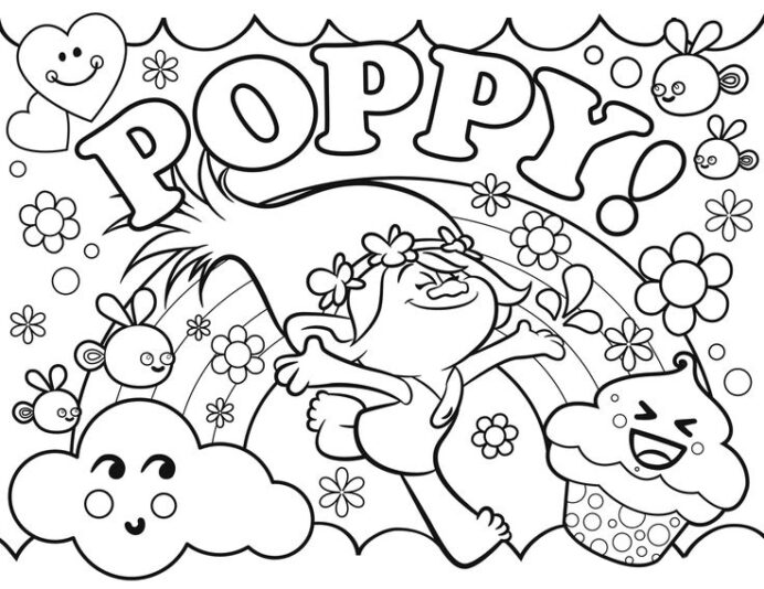 poppy coloring best for kids troll representing weather data witch cauldron writing coloring pages Poppy Coloring Page
