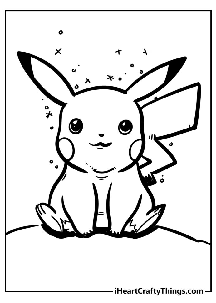 powerful pikachu coloring draw words cursive double art house to print disney free coloring pages Pikachu Coloring Page