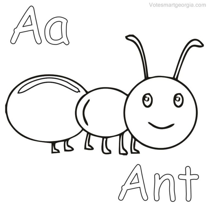 printable ant coloring pdf free sheets to print animal bear color pumpkin hard girls coloring pages Ant Coloring Page