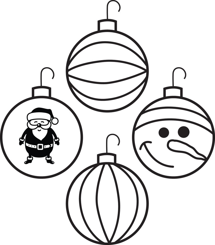 printable christmas ornaments coloring for kids supplyme ornament 1024x1024 stickmonster coloring pages Christmas Ornament Coloring Page