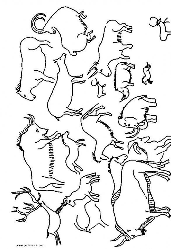 printable countries coloring painting steinzeit höhlenmalerei kunststunden cave hands coloring pages Cave Coloring Page